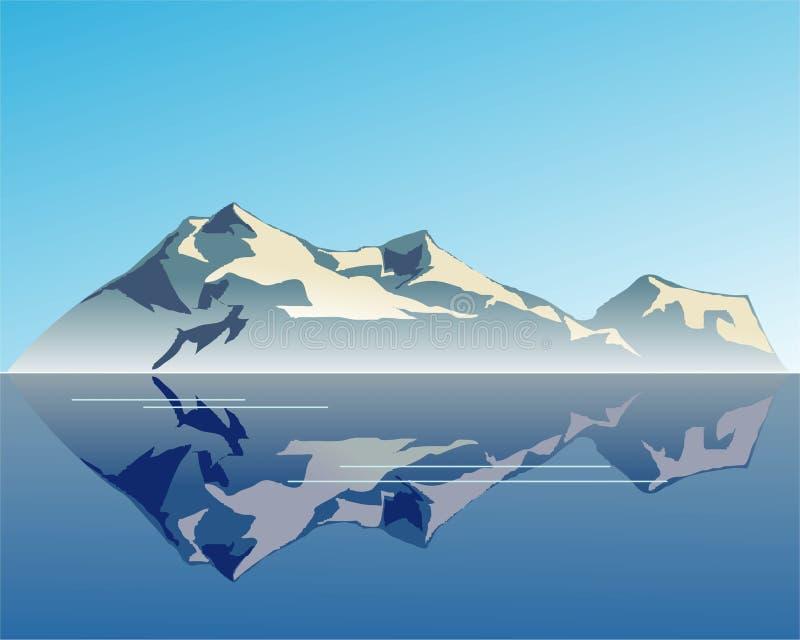 Sonho da montanha ilustração royalty free