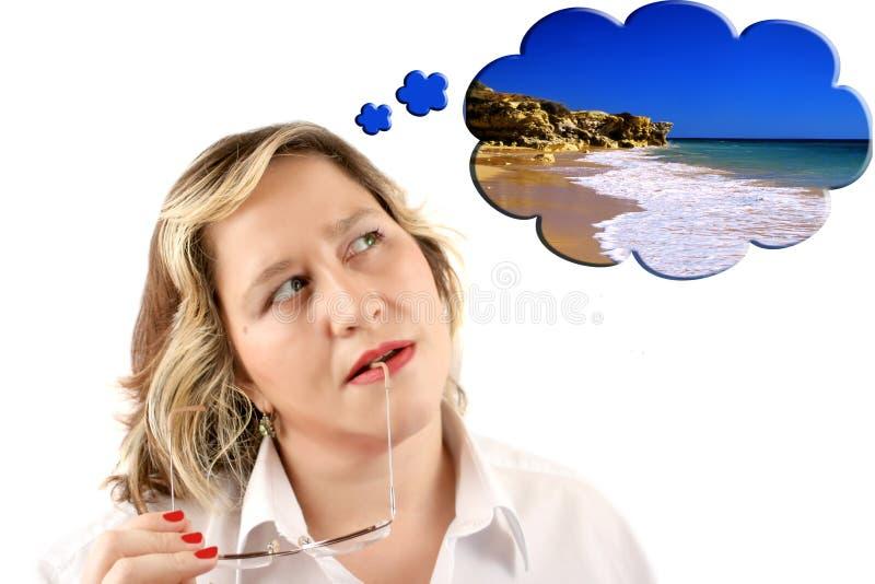 Sonho da praia imagem de stock royalty free