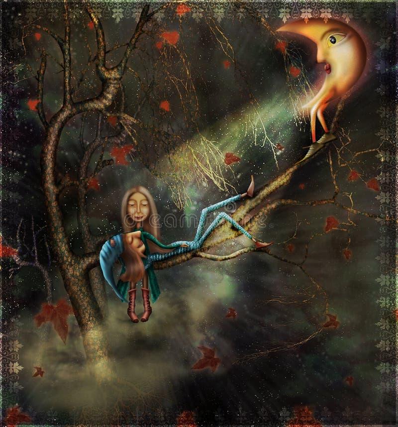Sonho de Autumn.Its. ilustração do vetor