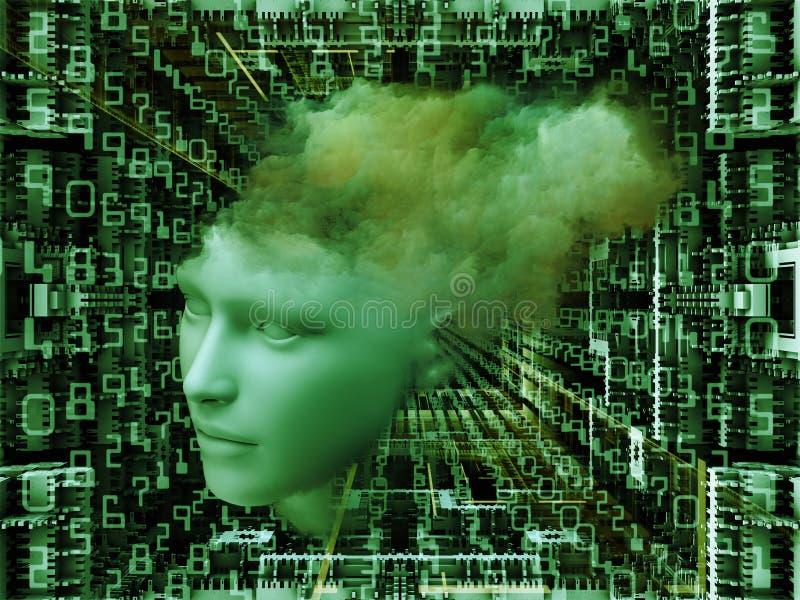 Sonho do processador central ilustração stock