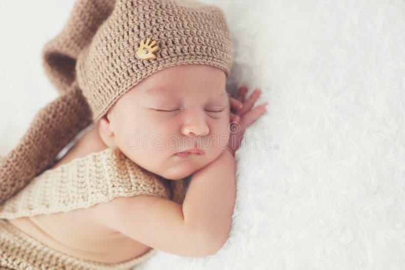 Sonho doce da criança recém-nascida fotografia de stock royalty free