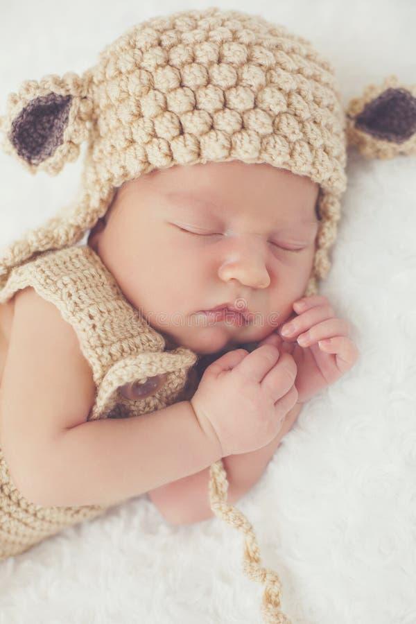 Sonho doce da criança recém-nascida imagem de stock