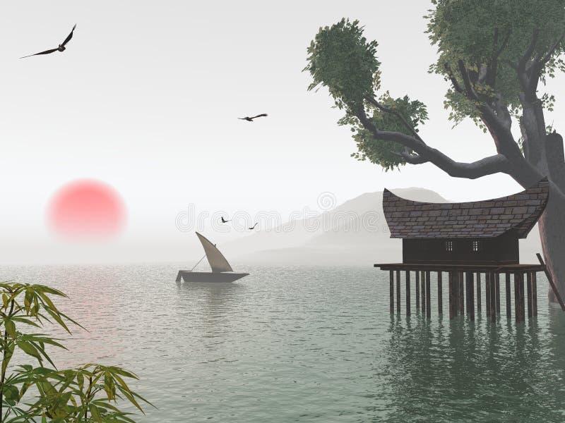 Sonho japonês ilustração do vetor