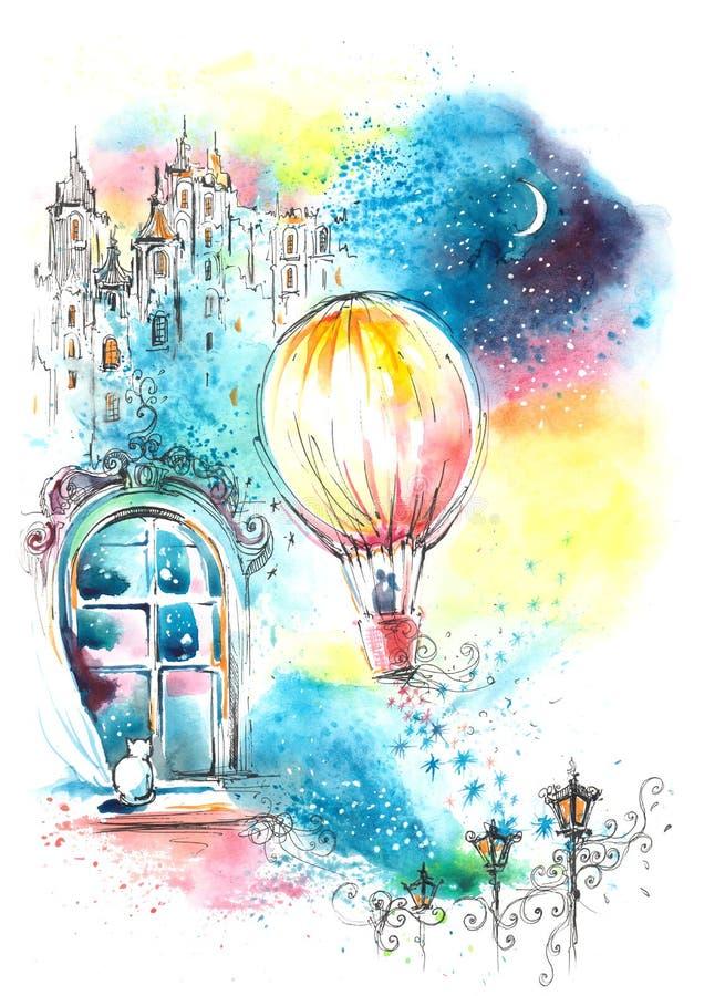 Sonho romântico ilustração stock