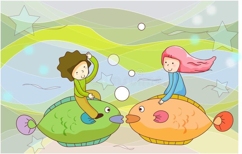 Sonho series17 ilustração stock