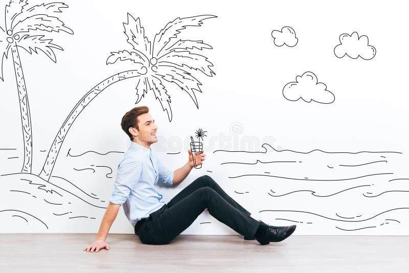 Sonho sobre férias imagens de stock royalty free
