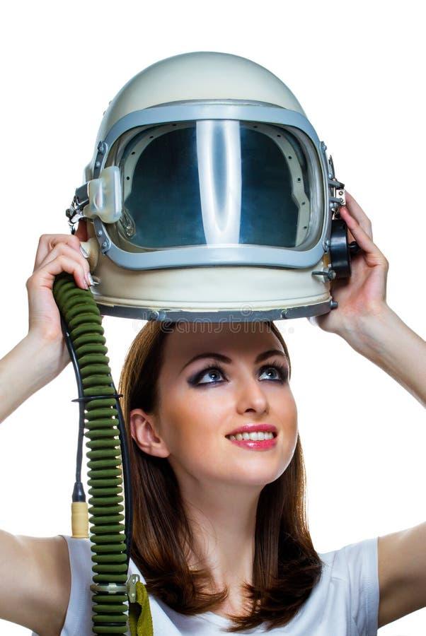 Sonho sobre o voo espacial fotos de stock