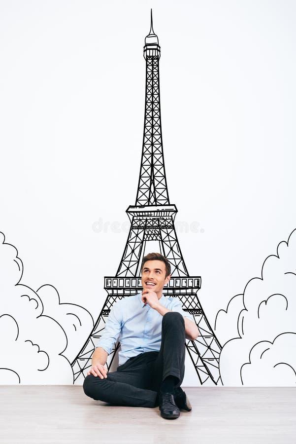 Sonho sobre Paris imagem de stock
