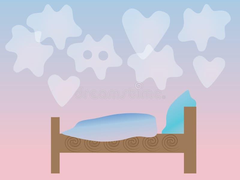 Sonhos ilustração stock
