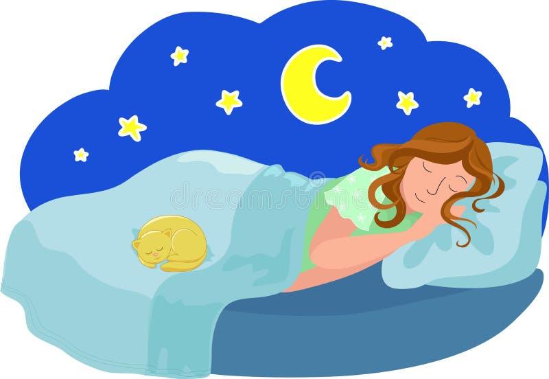Sonhos ilustração royalty free
