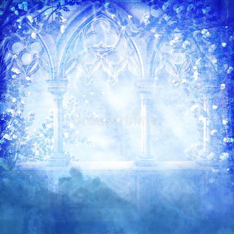 Sonhos azuis ilustração stock