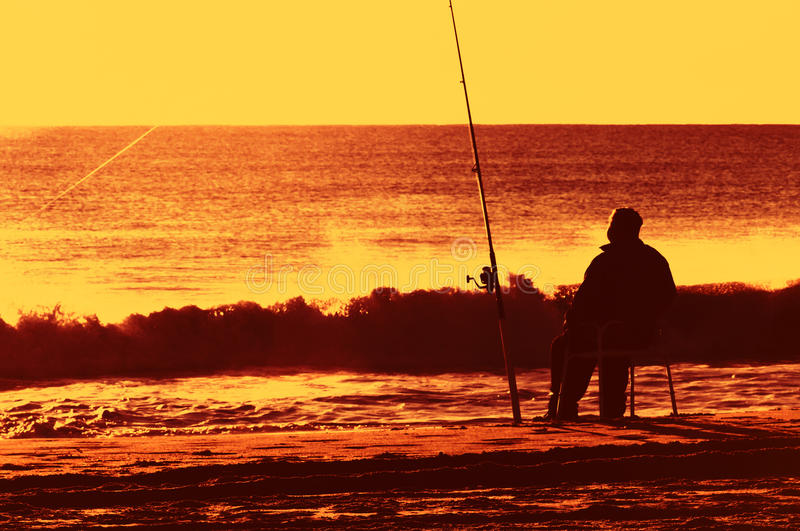 Sonhos da aposentadoria na praia atlântica imagem de stock