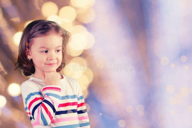 Sonhos da menina fotografia de stock