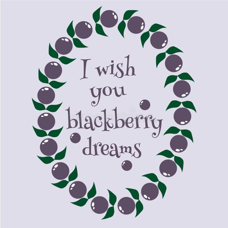Sonhos de Blackberry ilustração do vetor