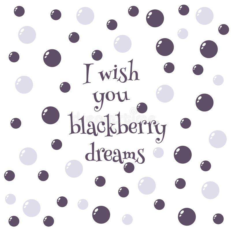 Sonhos de Blackberry ilustração royalty free