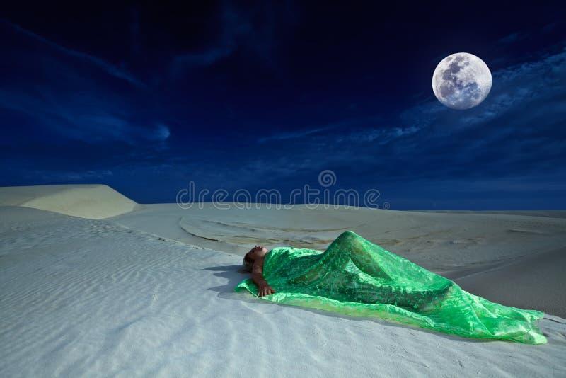 Download Sonhos do deserto imagem de stock. Imagem de caucasiano - 12802051