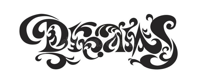 SONHOS do logotipo ilustração stock