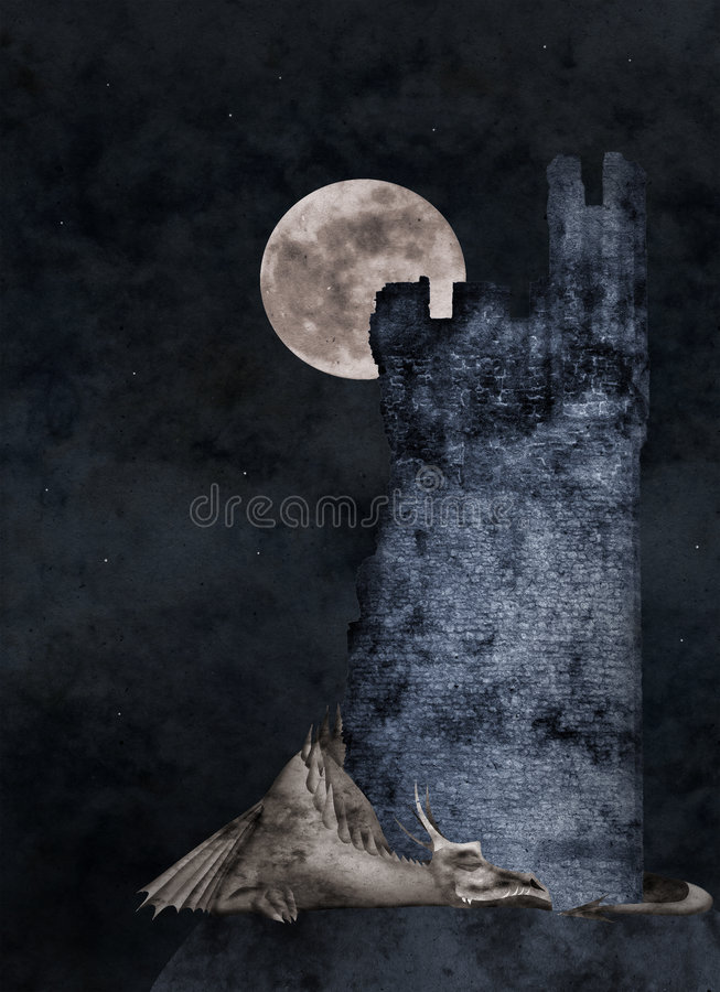 Sonhos doces ilustração royalty free