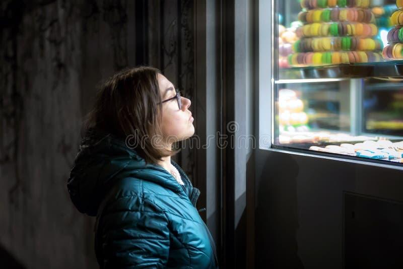 Sonhos doces, macarons fotografia de stock
