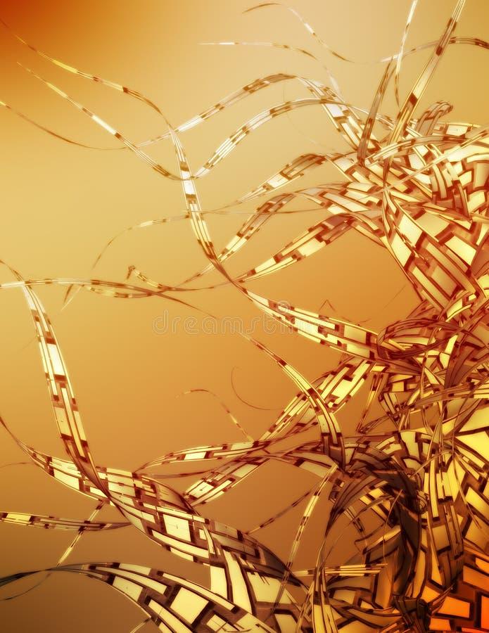 Sonhos dourados ilustração stock