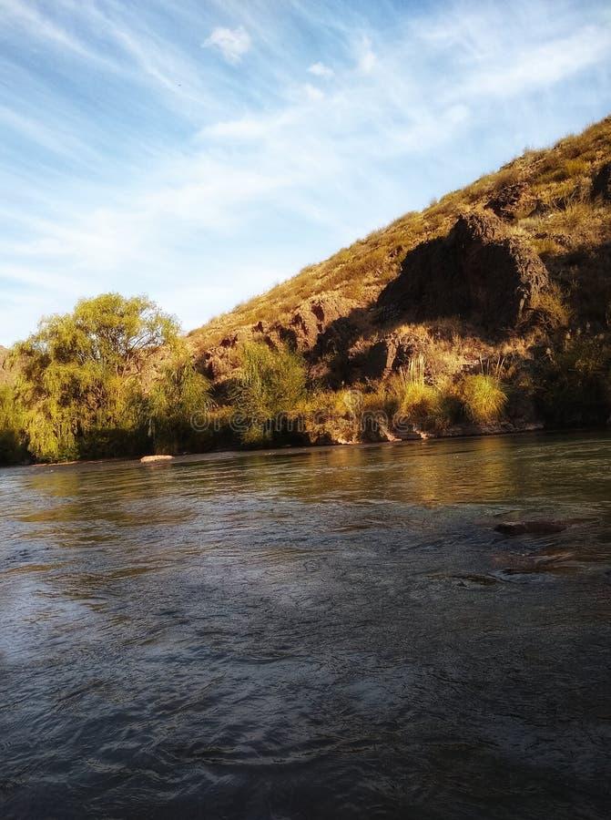 Sonhos no rio fotografia de stock