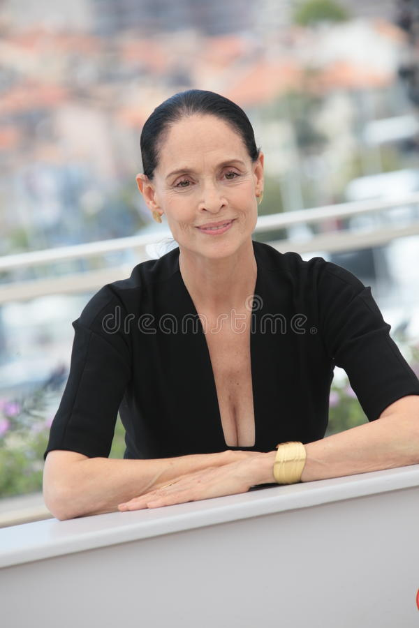 Sonia Braga. Actress Sonia Braga attends the 'Aquarius' photocall during the 69th Annual Cannes Film Festival at the Palais des Festivals on May 18, 2016 in royalty free stock image