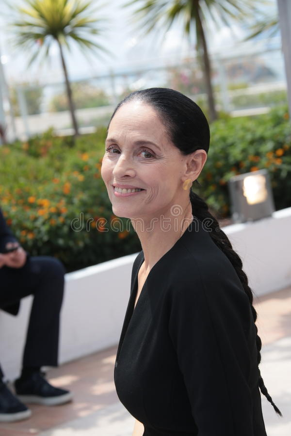 Sonia Braga. Actress Sonia Braga attends the 'Aquarius' photocall during the 69th Annual Cannes Film Festival at the Palais des Festivals on May 18, 2016 in stock images