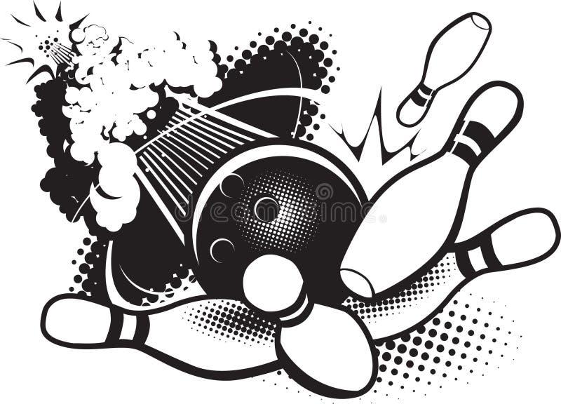 Sonic Boom Boliches ilustração stock