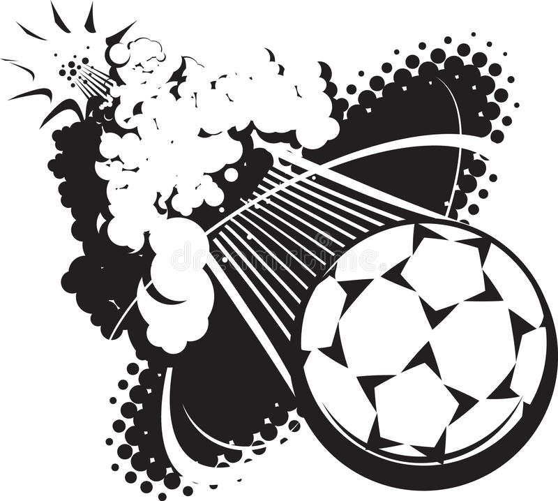 Download Sonic Boom Soccer Ball stock photo. Image of stars, black - 31919112