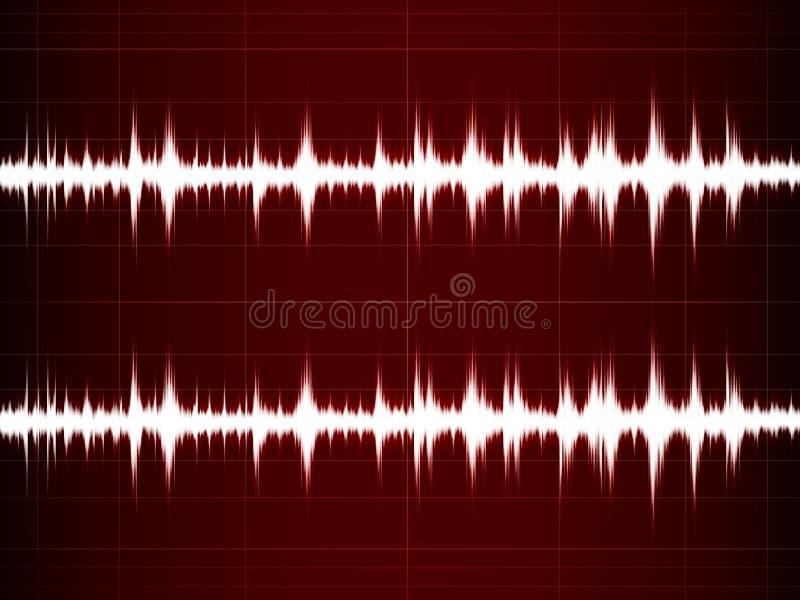 Sonido de la onda ilustración del vector