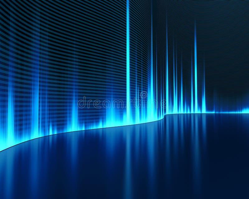 Sonido de la onda stock de ilustración