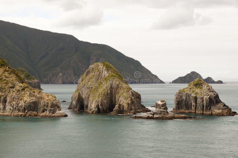 Sonido de Marlborough - Nueva Zelanda foto de archivo