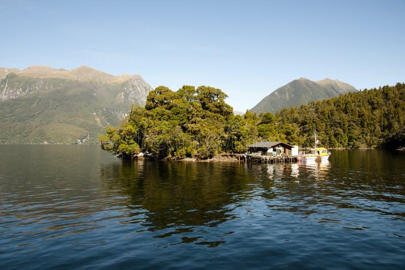 Sonido dudoso - Nueva Zelanda imagenes de archivo