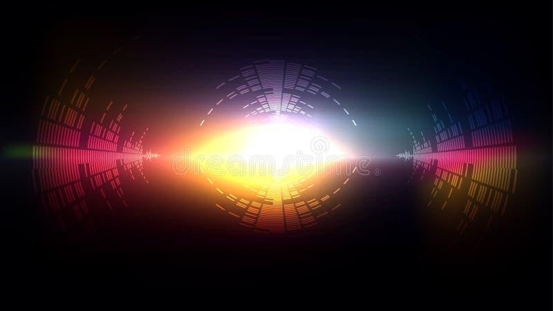 Sonido grande de la explosión de la tecnología ligera ilustración del vector