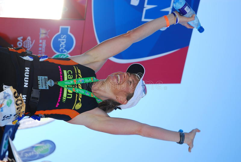 Sonja Tajsich, Ironman SA 2010 foto de stock