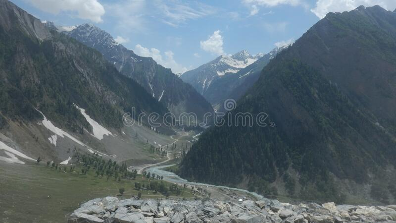 Sonmarg Mountain in Kaschmir-7 lizenzfreies stockbild