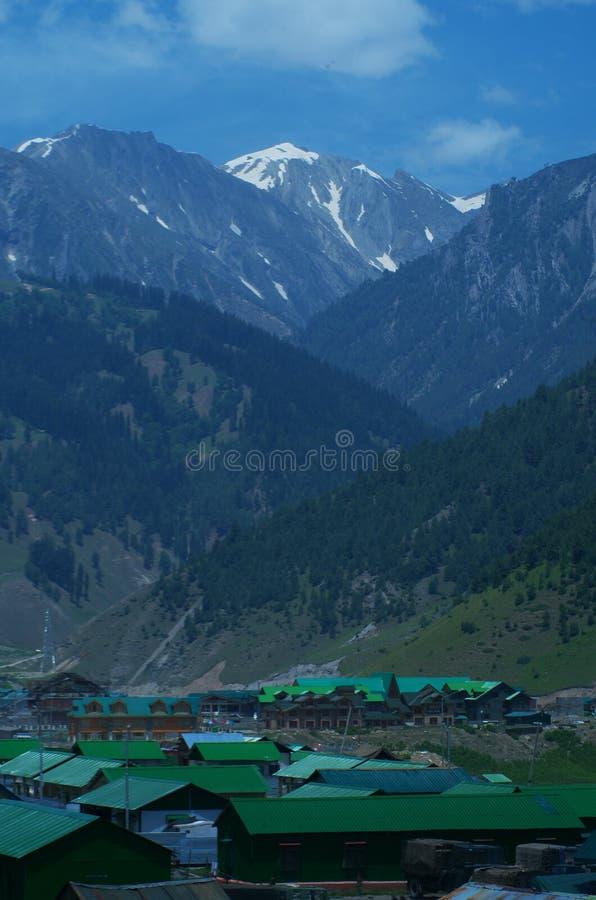 Sonmarglandschap in Kashmir-2 royalty-vrije stock afbeelding