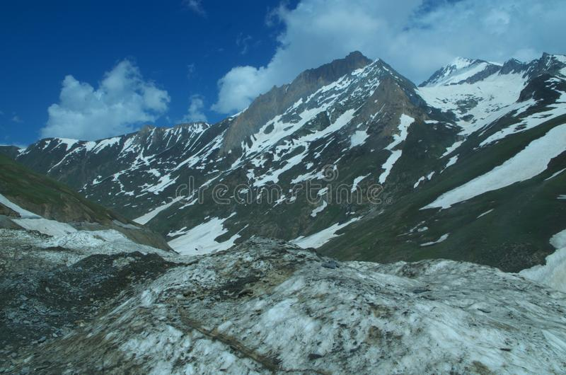 Sonmarglandschap in Kashmir-6 royalty-vrije stock foto