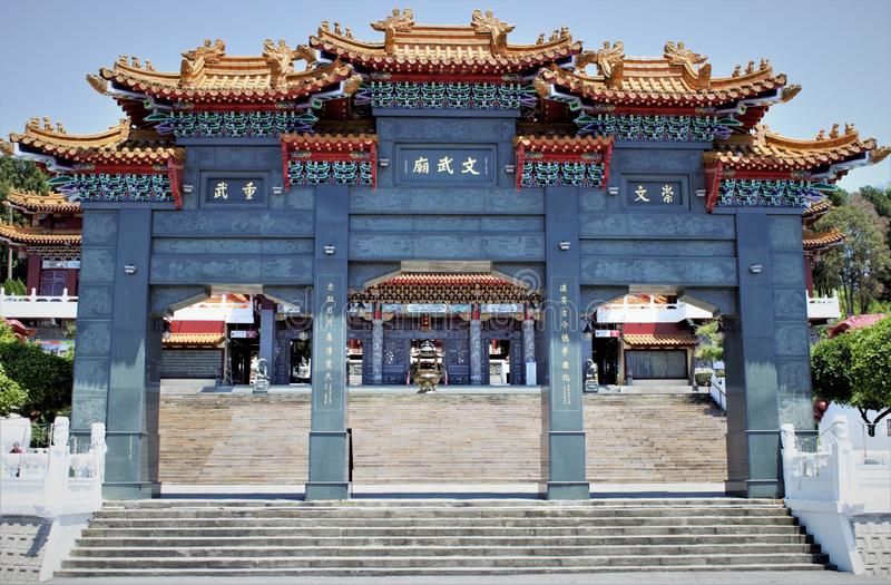 Sonne-Mond-See Wen Wu Temple, Taiwan stockfotos