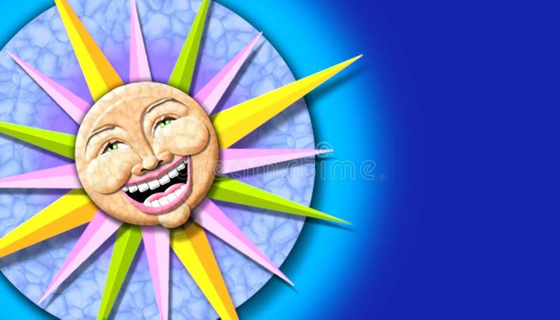 Sonneabbildung stock abbildung