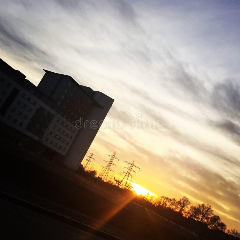 Sonnen-Streifen lizenzfreie stockfotos