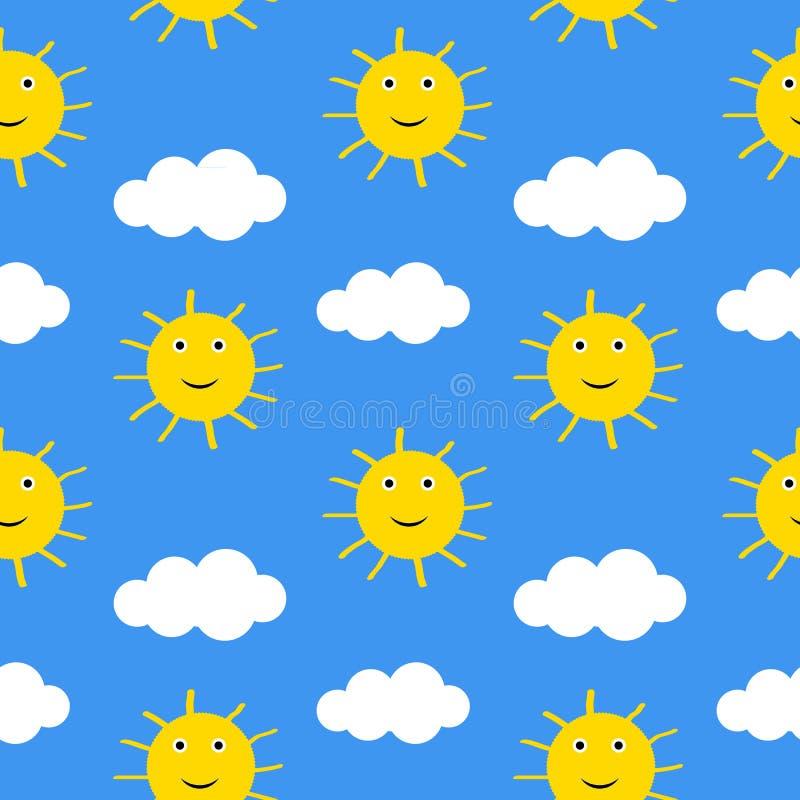 Sonnen und Wolken stock abbildung