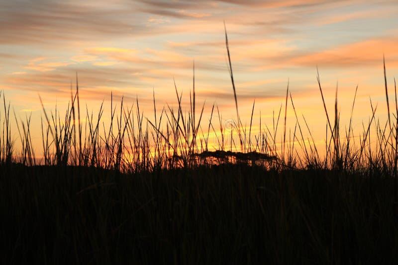 Sonnenaufgang über dem Atlantaic-Ozeaneinlaß stockfotos