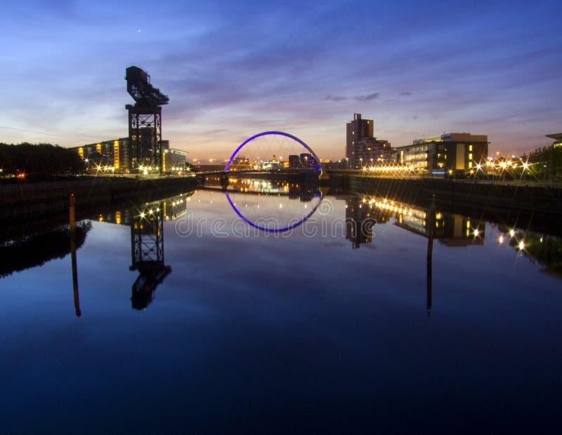 Sonnenaufgang über Fluss Clyde stockfoto