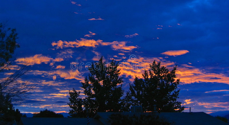 Sonnenaufgang über New-Mexiko Stockfoto