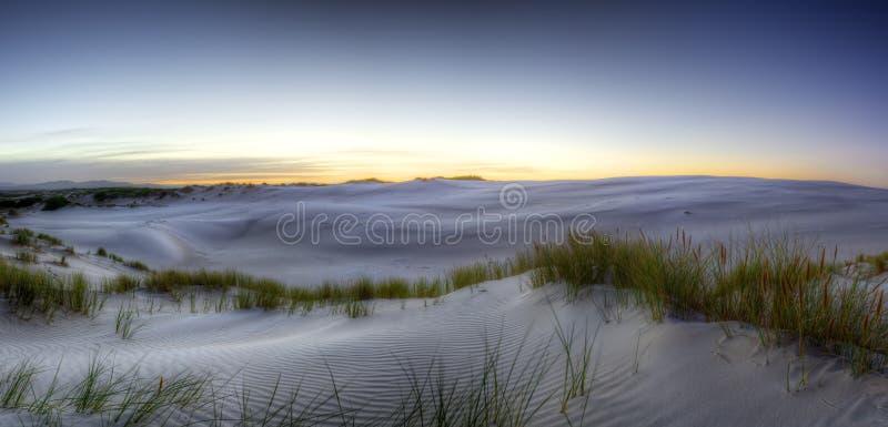 Sonnenaufgang über Peron-Dünen lizenzfreie stockfotos