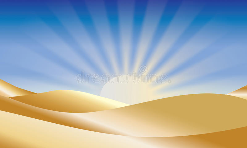 Sonnenaufgang über Wüste lizenzfreie stockfotografie
