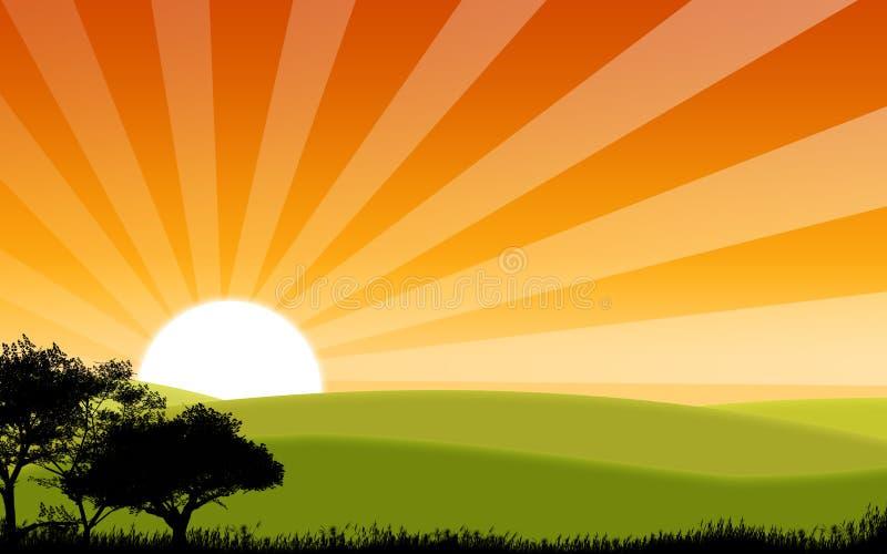 Sonnenaufgang stock abbildung