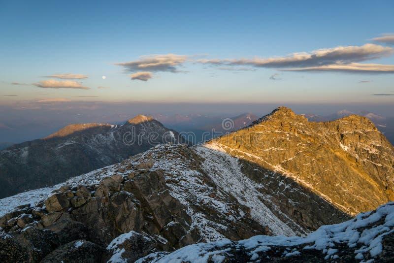 Sonnenaufgang auf Berg Evans stockbilder
