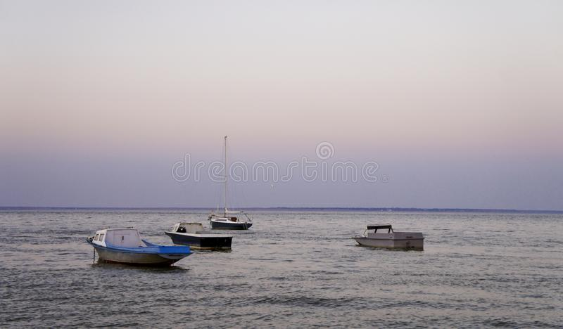Sonnenaufgang auf dem Meer stockfotografie